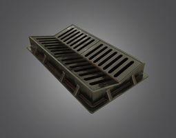 Sewer Grate - 4K PBR Game Ready 3D asset