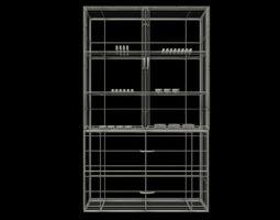 Livingroom Cabinet 3D Model