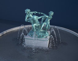 3D PBR Dancing Children Fountain