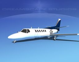 3D model Cessna C550 Citation II V12