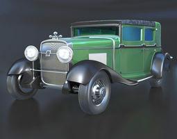 1928 Cadillac V-8 Al Capones car 3D model