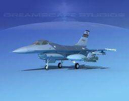 3D Gen Dyn F-16A Falcon V06 USAF