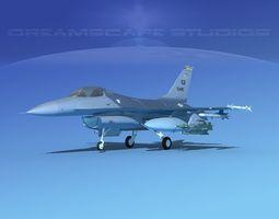 3D model Gen Dyn F-16A Falcon V11 USAF