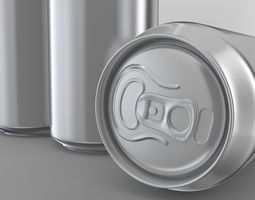 Beer or soda aluminum cans 3D