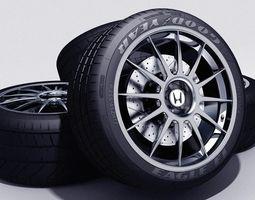 TKs Honda S 2000 Wheel 3D Model