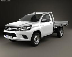 Toyota Hilux Single Cab Alloy Tray SR 2015 3D model