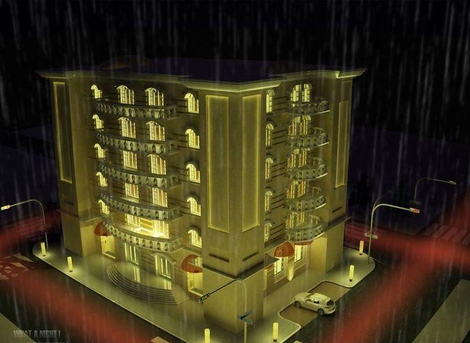 multipurpose building 3d model max 3ds gsm 1