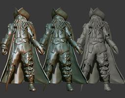 pirate Davy Jones 3D Printable