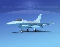 Gen Dyn F-16A Falcon V39 Oman 3D model