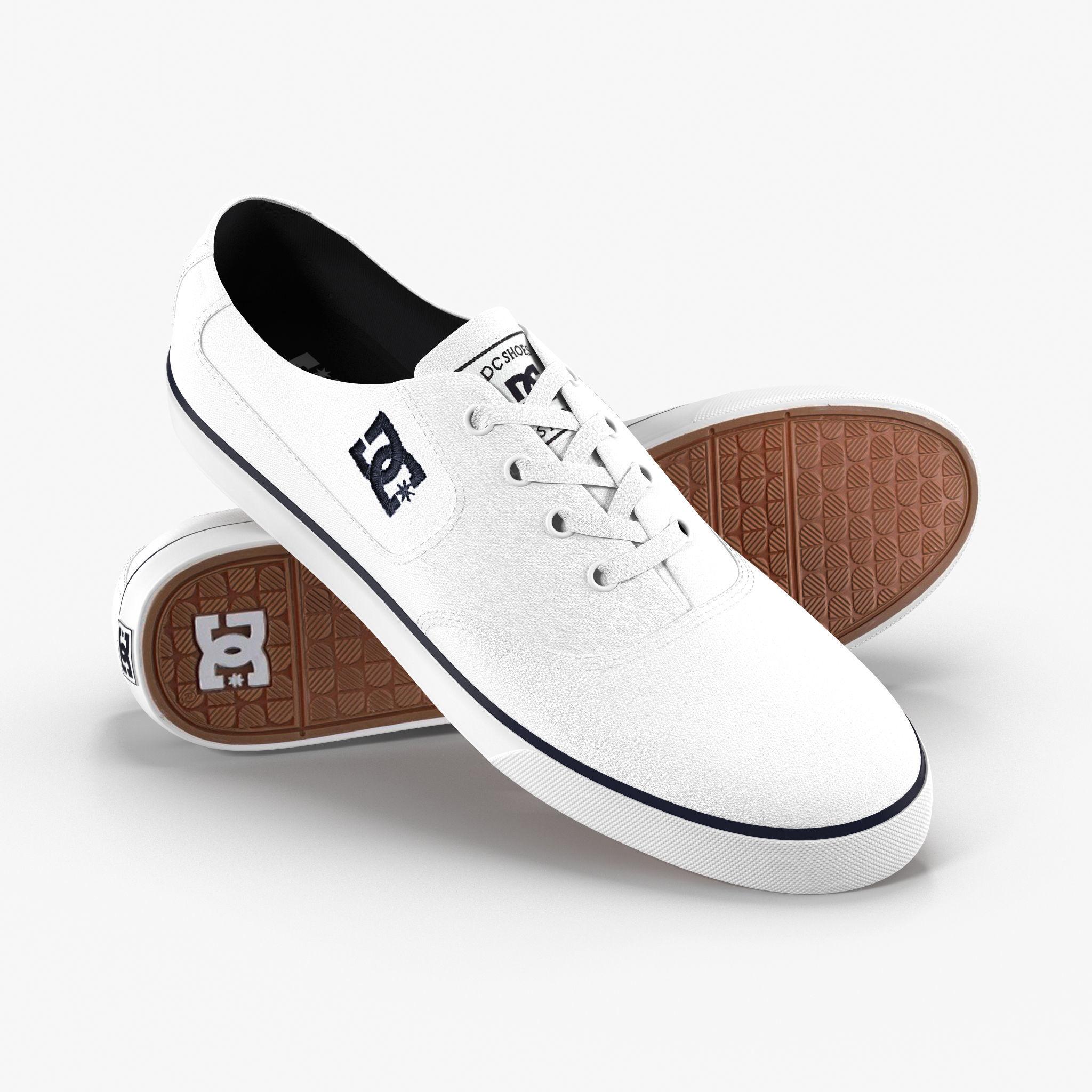 3D asset DC Shoes - Flash TX - White