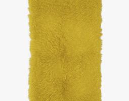 Mongolian fur rug yelow 3D
