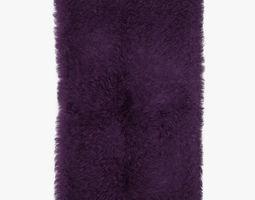 Mongolian fur rug phiolet 3D model