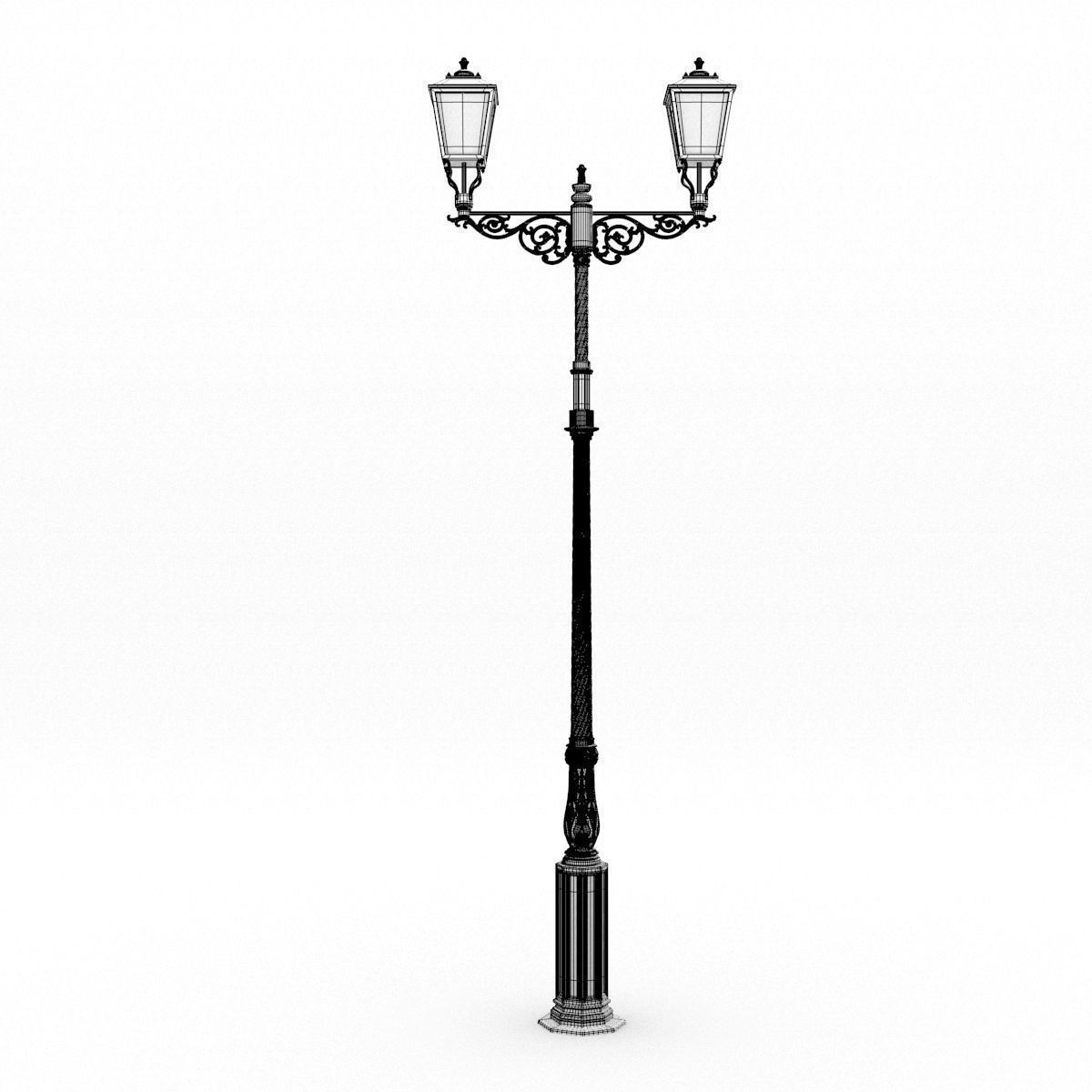 Cast Iron Street Lamp 3D model   CGTrader for Classic Street Lamp  575cpg