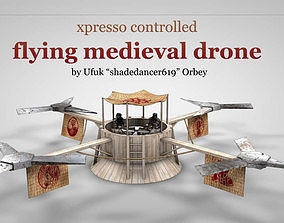 Flying Medieval Drone 3D