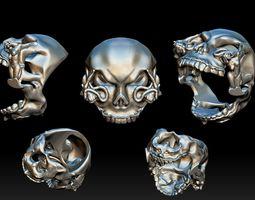3D printable model Skull Head Ring