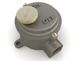 3D Iron Cast Industrial Light Switch