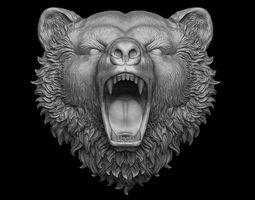 Bear pendant 3D print model