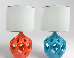 Regina Ceramic Table Lamp 3D model