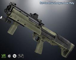 Kel-Tec KSG Shotgun 3D model