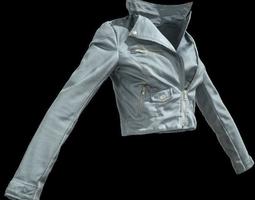Grey Leather Jacket 3D Model