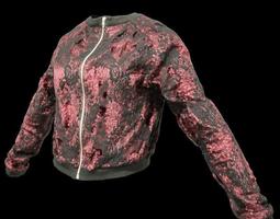 Red Glitter Jacket 3D Model