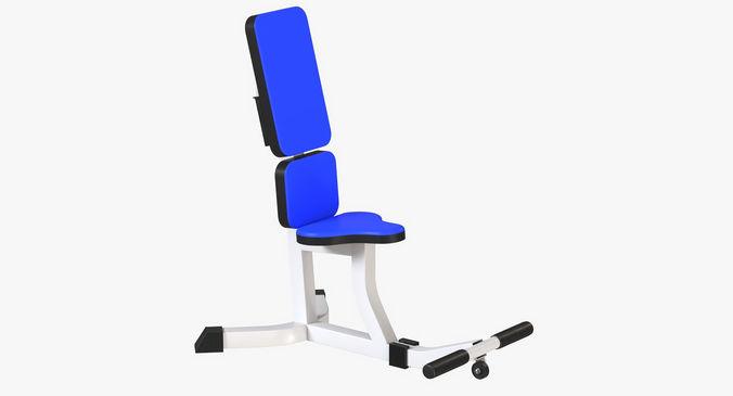 gym weight bench 3d model obj mtl fbx blend 1