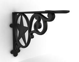 Vintage shelf bracket 02 3D model