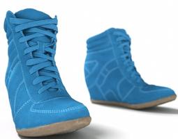 Blue Wedge Boot 3D Model