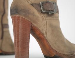 Kneehigh Boot with Zipper 3D Model