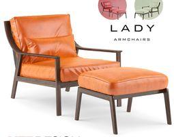 Lady Armchair 3D asset