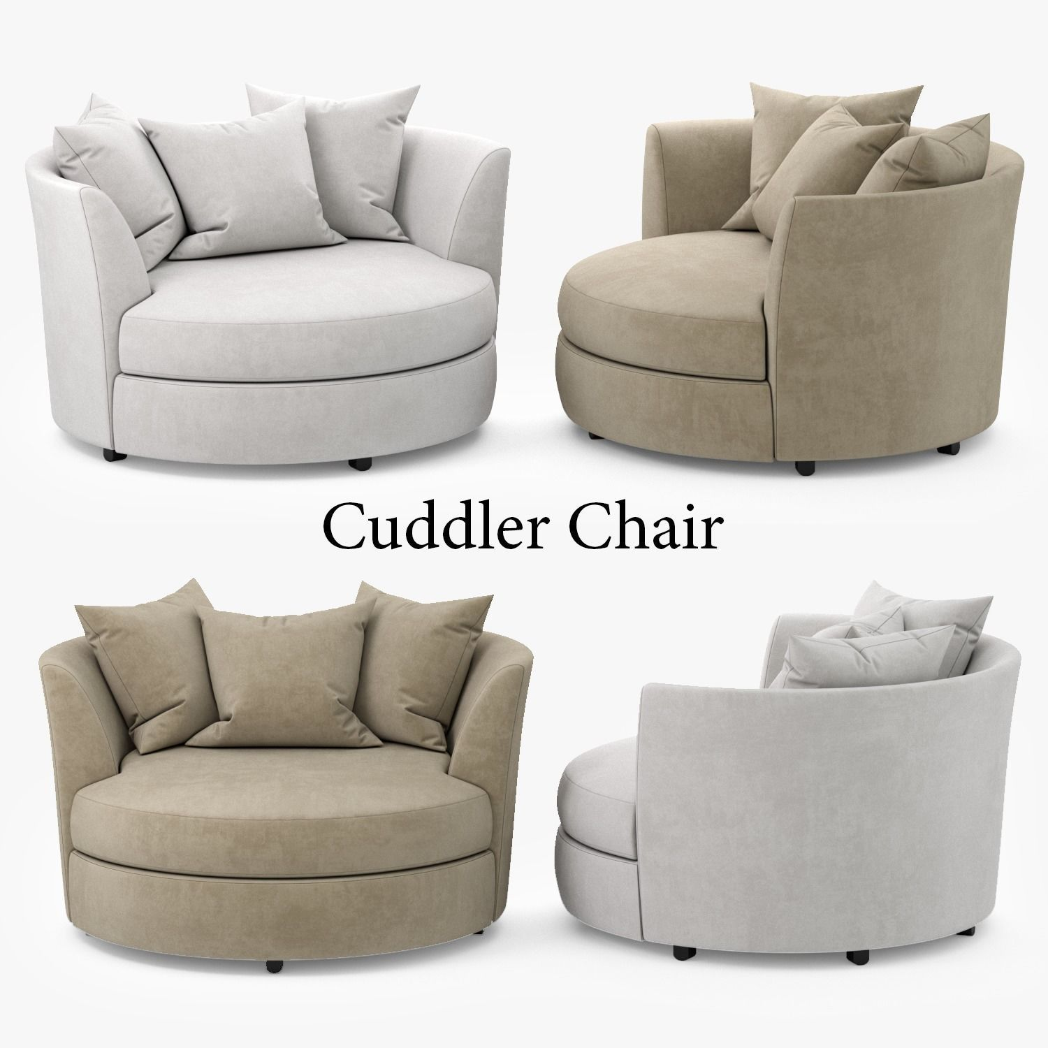 Cuddler Chair 3d Model Max Obj Mtl Fbx 1 ...