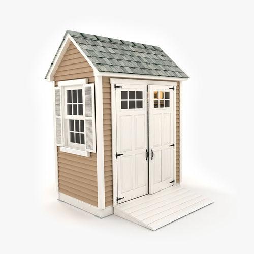 garden shed 03 3d model max obj mtl 3ds fbx tga 1