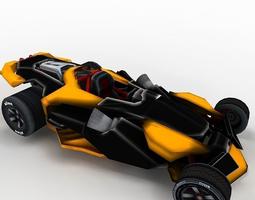 futuristic sportcar or racing car 3D Model