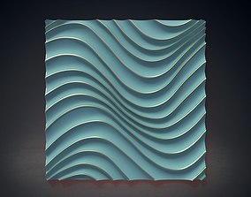 Wall Panel Waves 3D model