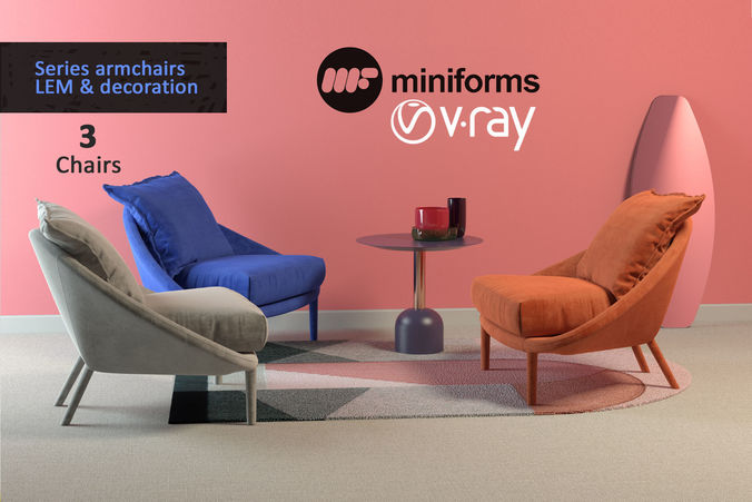 Armchair LEM collection and decor 3D model | CGTrader