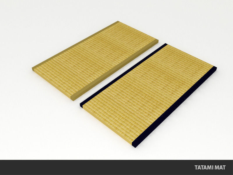 Tatami mat traditional japanese flooring 3d model game for Meaning floor