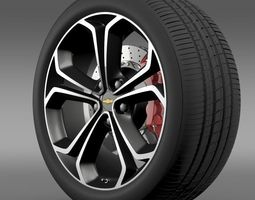 Chevrolet Volt Z spec concept wheel 3D Model