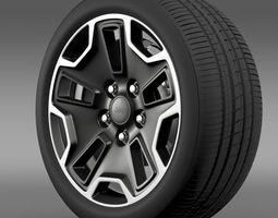 Jeep Wrangler Rubicon aniversary wheel 3D Model