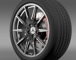 Mercedes Benz AMG GT wheel 3D Model