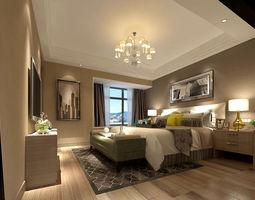 3D model Bedroom - Modern Style - 9432