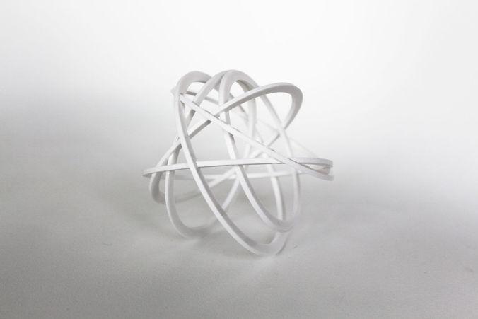 030a - decorative sphere puzzle -  3d model stl 1