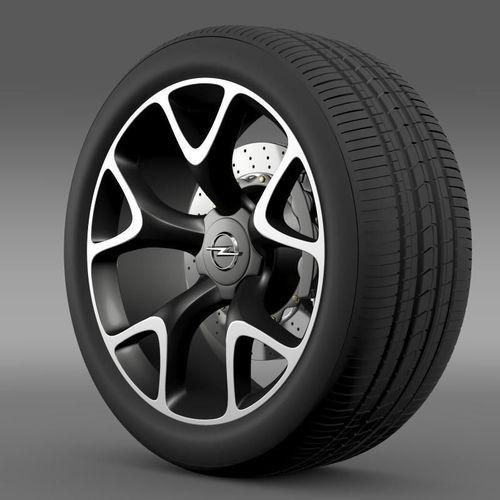Opel Insignia OPC Concept wheel3D model