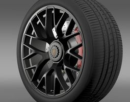 Porsche GTS 2015 wheel 3D Model