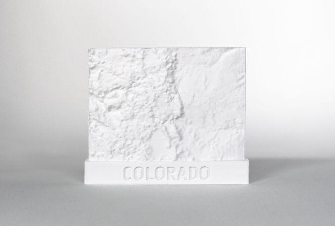047d - magnet - colorado topography -  3d model stl 1