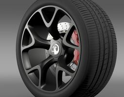 Vauxhall Insignia VRX wheel 3D Model