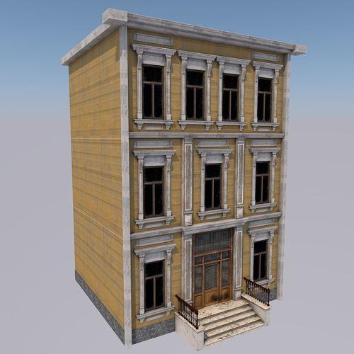lowpoly house 02 3d model max obj mtl 3ds fbx c4d blend 1