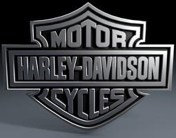 3D model Harley Davidson logo