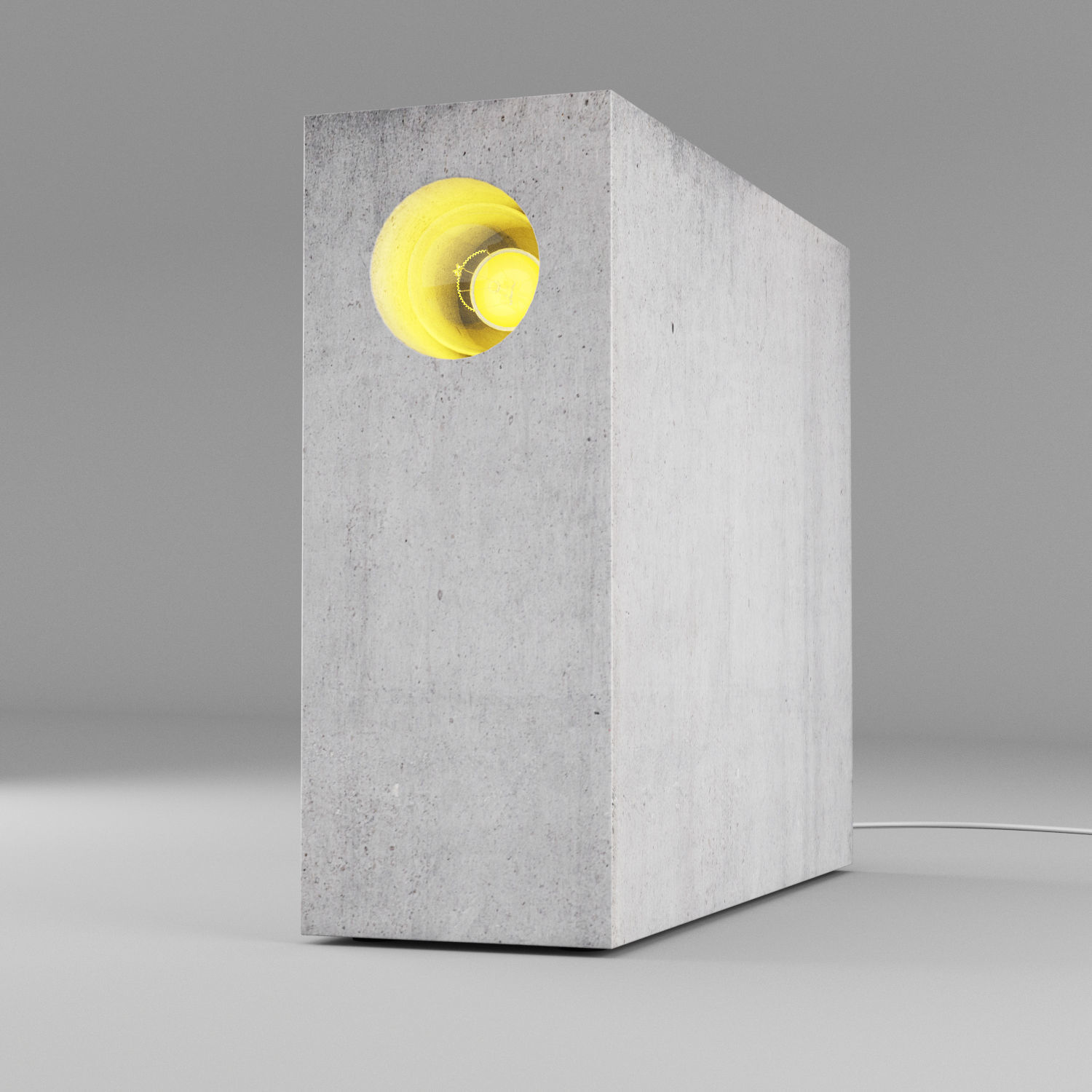 Concrete table light 2