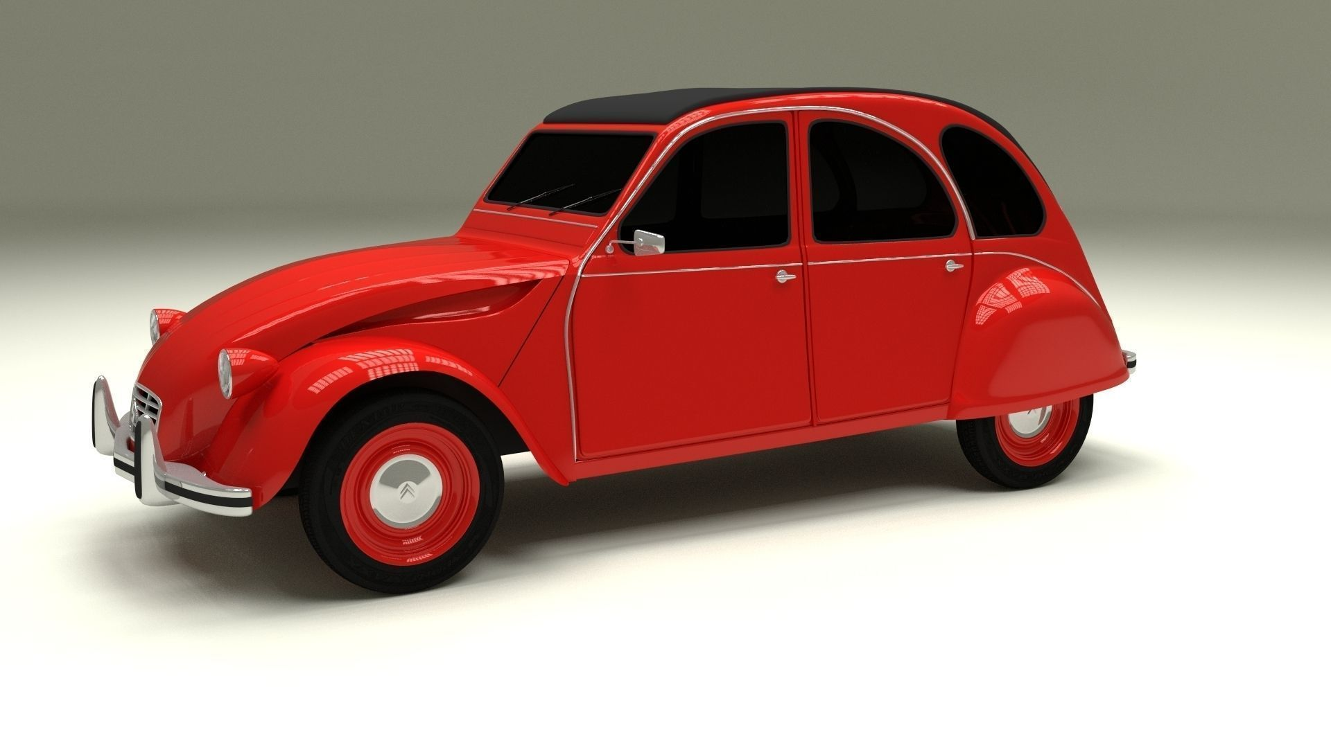 3d model citroen 2cv vr    ar    low