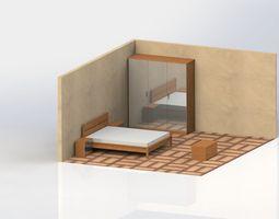 bedroom-furniture bedroom 3D model